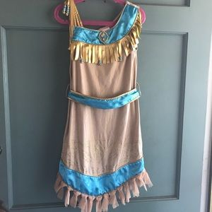 Pocahontas outfit with shoes.